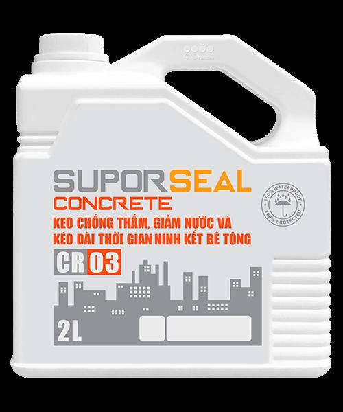 Suporseal concrete cr03 2l keo chống thấm, giảm nước và kéo dài thời gian ninh kết bê tông