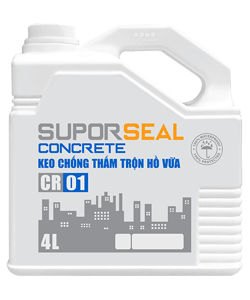 Suporseal concrete cr01 4l keo chống thấm trộn hồ vữa